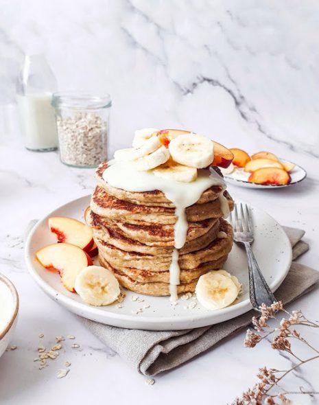 Pancakes cu ovaz si banana