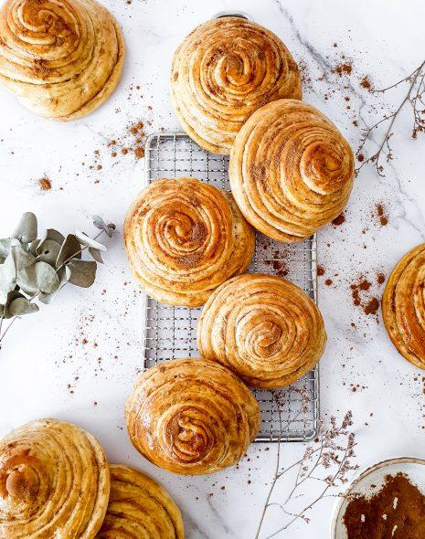 Cinnamon swirl buns (rulouri cu scortisoara)