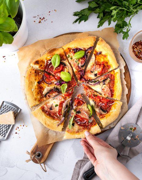 Pizza vegana/de post